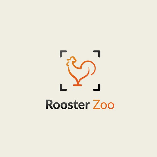 Rooster logo for a small photography studio