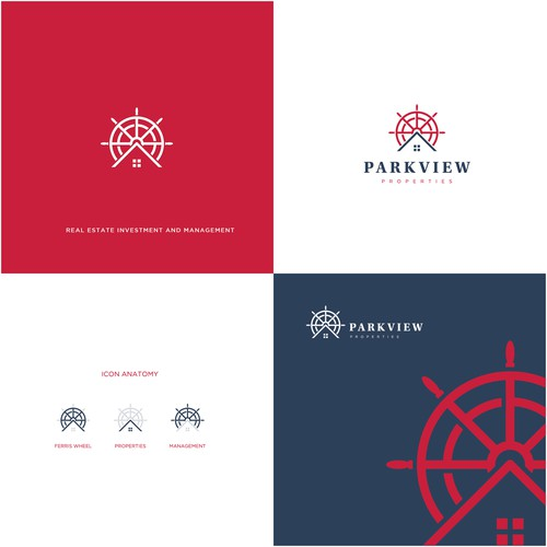 Modern logo for Parkview Properties