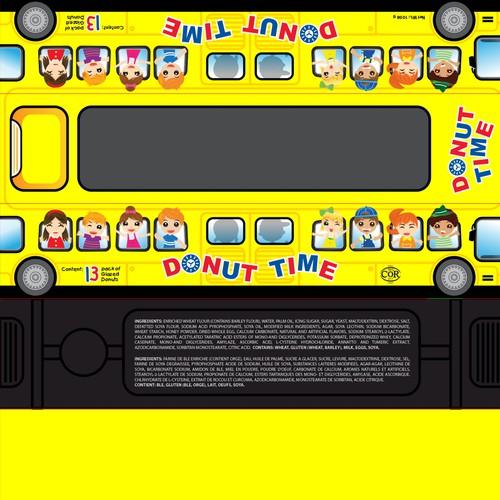 School Bus Donut Pack