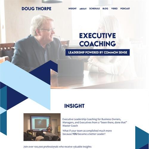 Executive Coaching Homepage design
