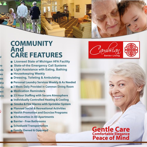 Design New Brochure for Cambrian Assisted Living