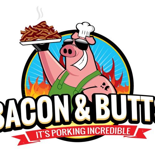 bbq food truck logo