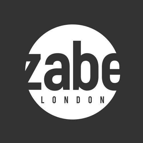 Zabe travel bag logo that conveys modern simplicity, affluent adventure and someone on the Go!