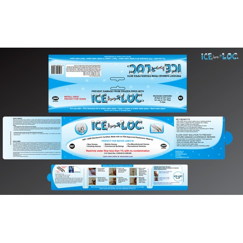Create the next print or packaging design for Ice-Loc Inc.