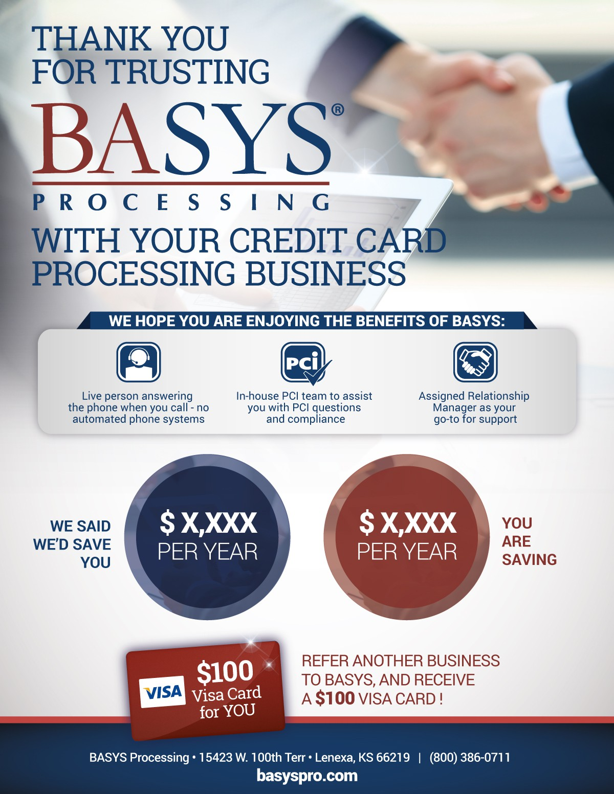 BASYS - Proof of Savings