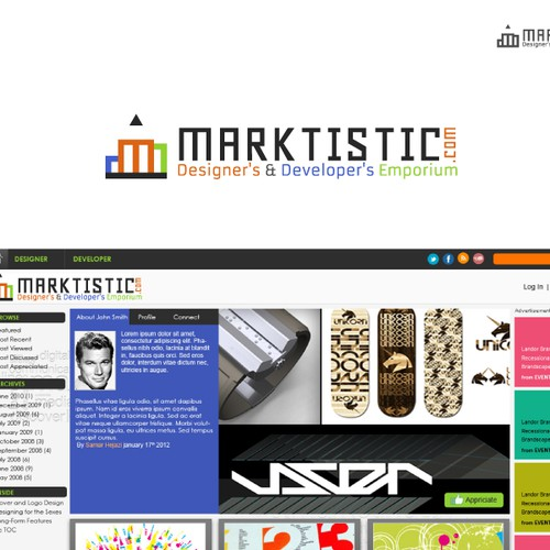 **Help Marktistic.com, a Designer's Website, with a new LOGO