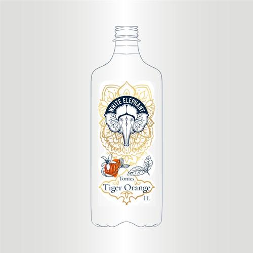White Elephant Tonic label