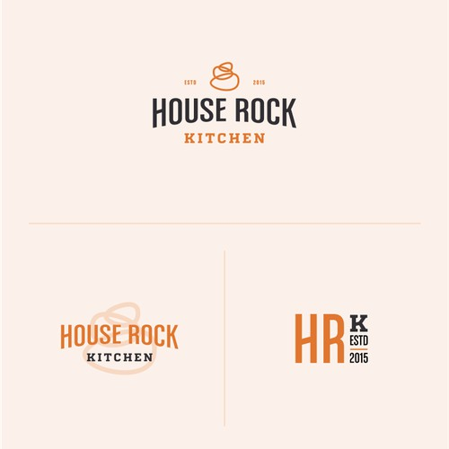 Logo design concept for House Rock Kitchen