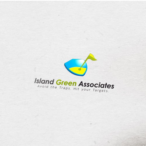 Golf-themed logo design for security and management consulting firm