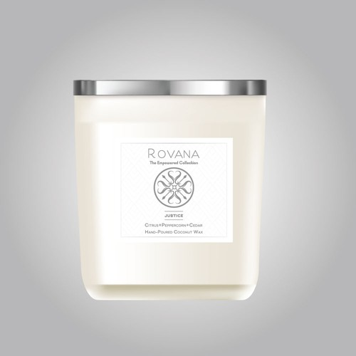Rovana Candle scent label design