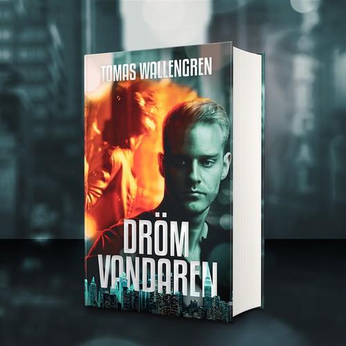 Movie-feel book cover for dream-centered thriller novel