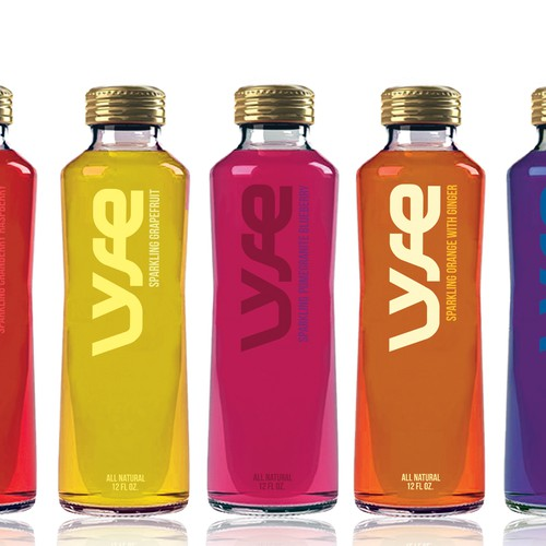 Create a logo and bottle design for Lyfe Soda.