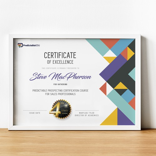 Modern and clean design certificate
