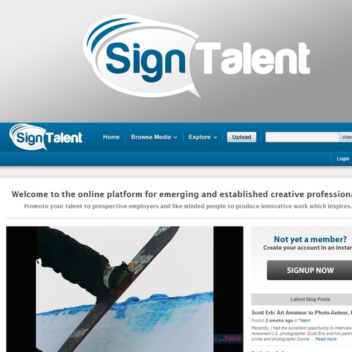 New logo wanted for Sign Talent
