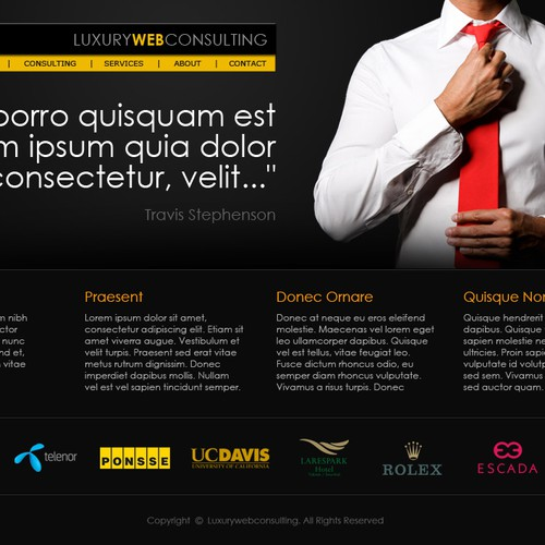 New website design wanted for Luxury Web Consulting