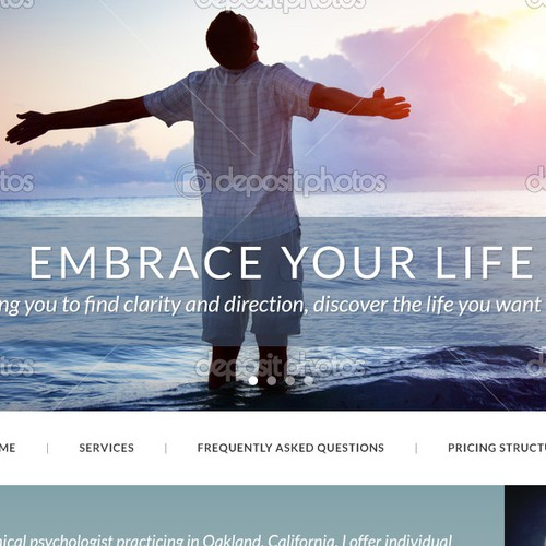 Modern psychotherapy private practice website.