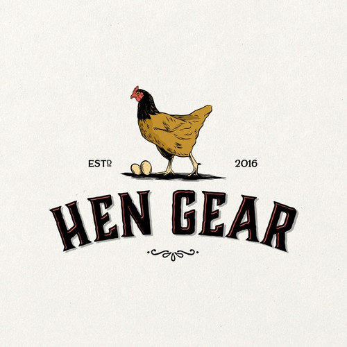 A fun and energetic logo for a HenGear
