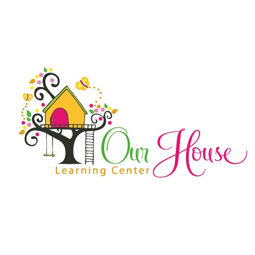 whimsical cute treehouse logo