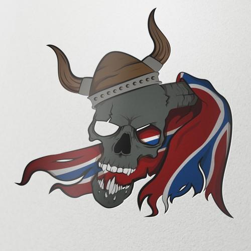 Norwegian Russ Viking Skull