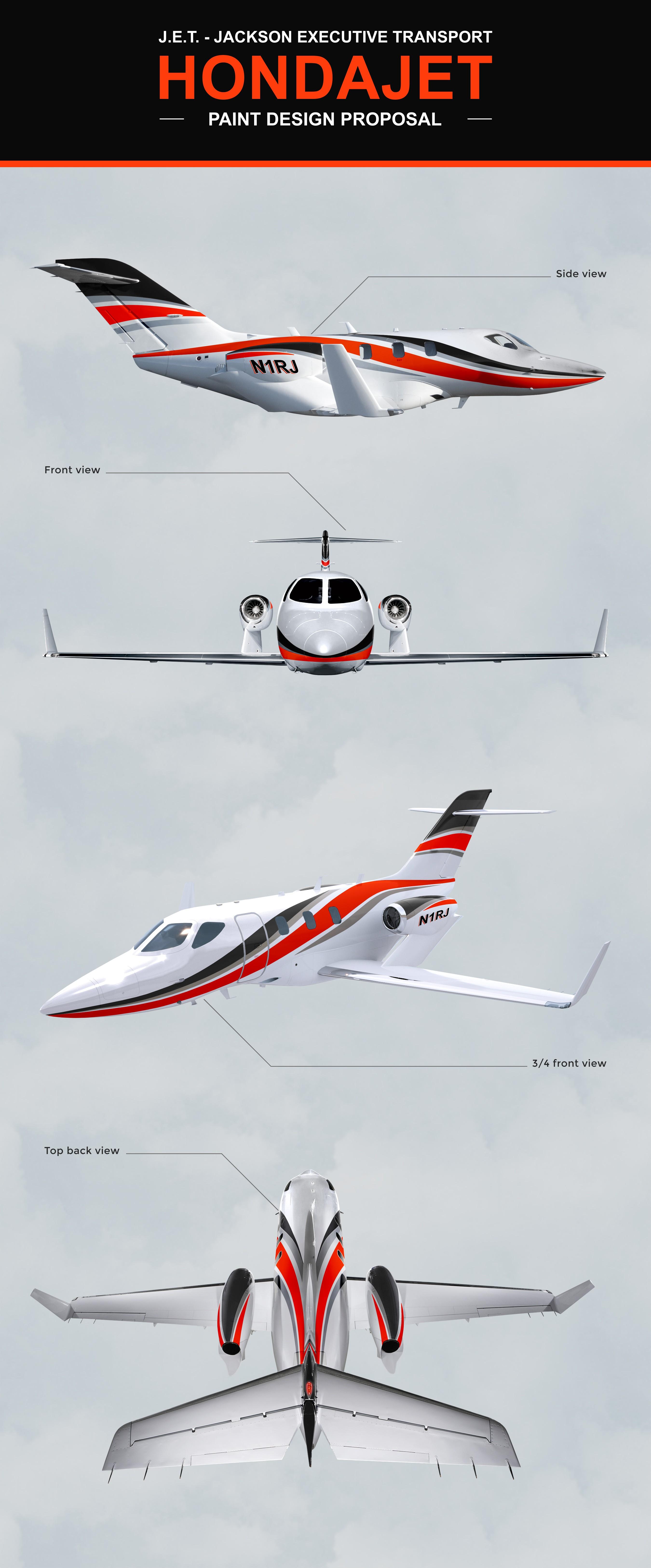 Design a Paint Scheme for a Honda Private Jet
