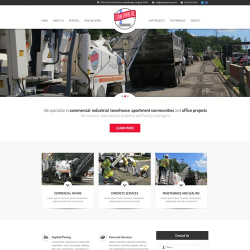 Asphalt Paving Company - Website Redesign