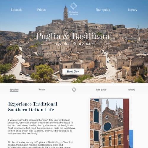 Web Design for Luxury Travel Tour company