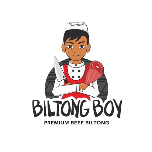 Illustrated Logo For Biltong Boy