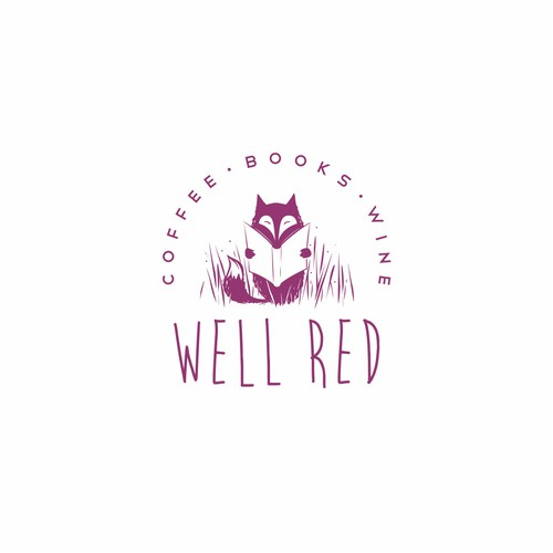 New logo for coffee shop - bookstore - wine bar