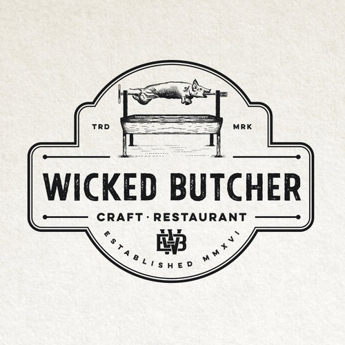 Vintage logo for craft restaurant