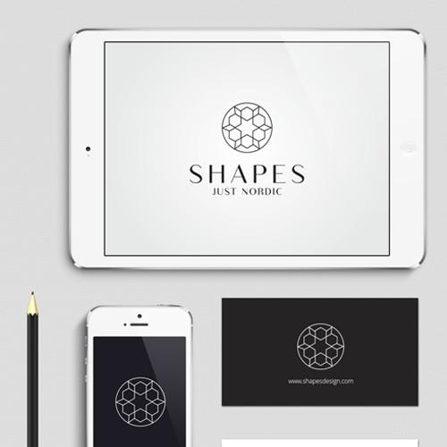 SHAPES logo design