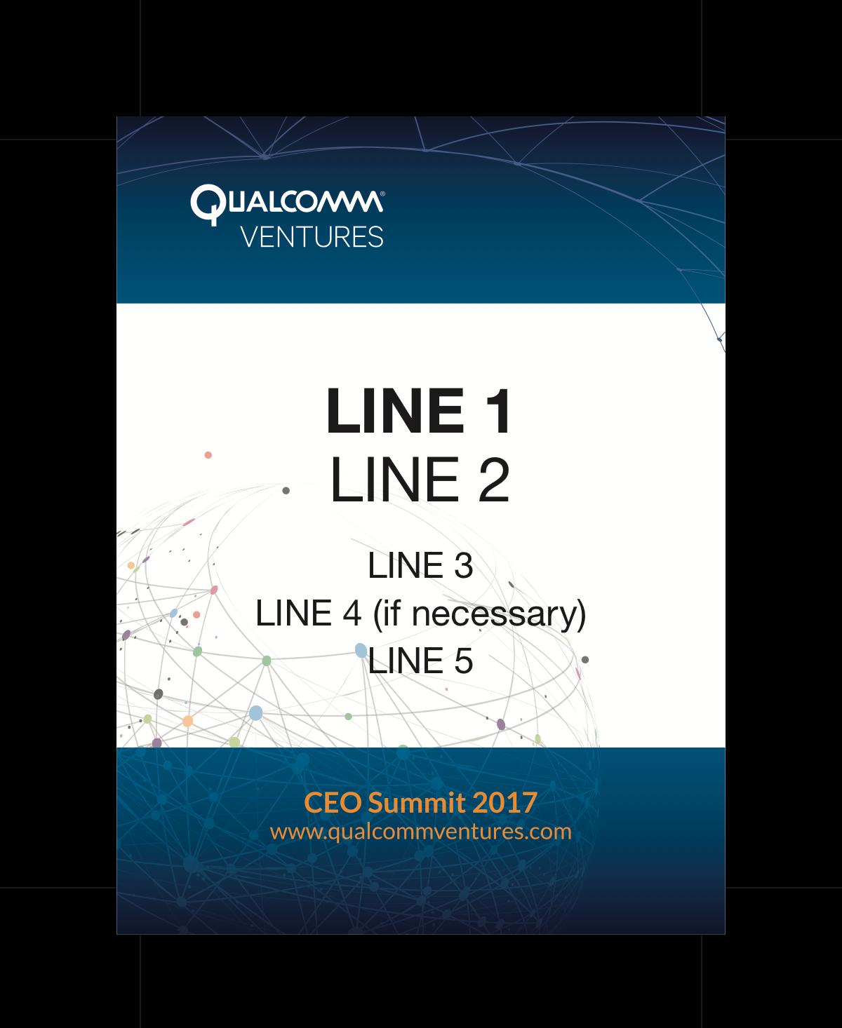 Badge Design for Qualcomm Ventures CEO Summit