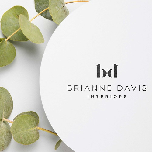 An elegant logo design concept for an interior design brand