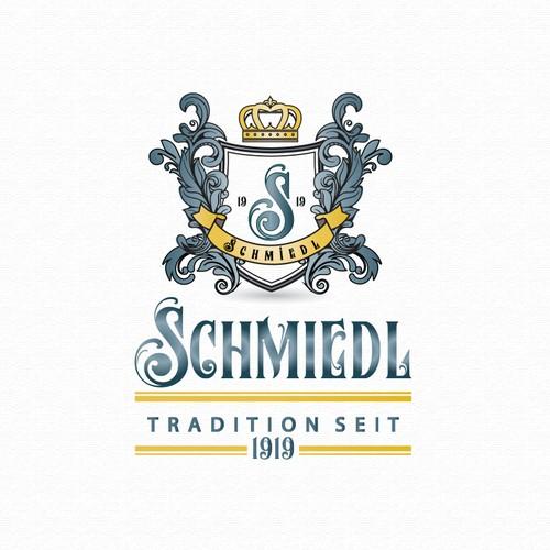 Elegant and detailed logo crest