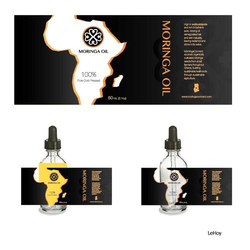 Create a cosmetic label for social enterprise MoringaConnect