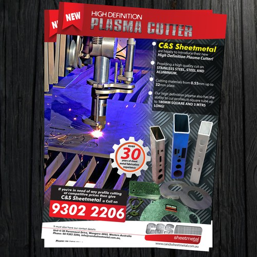 C&S Sheetmetal Pty Ltd needs a new postcard, flyer or print