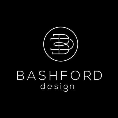 Logo design concept for luxury interior design brand