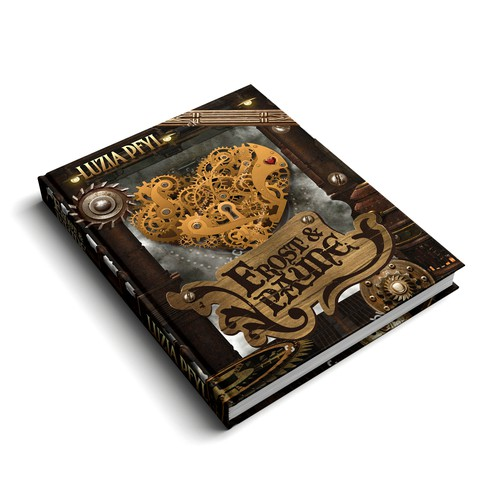 Book cover for a Steampunk-Book-Series