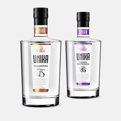 Brandy UNIKA label