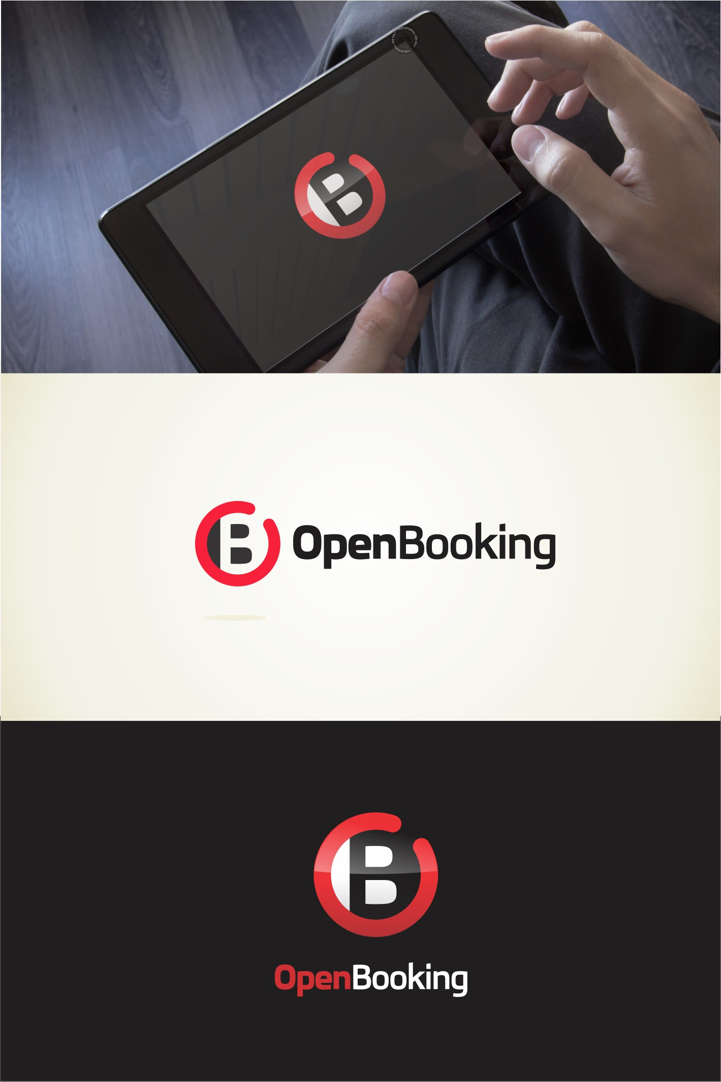 Create the winning logo for the OpenBooking software