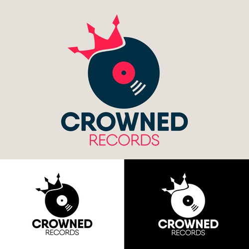 logo concept for record company