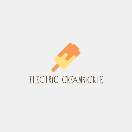 Battery + Ice Cream Logo Concept for ELECTRIC CREAMSICKLE
