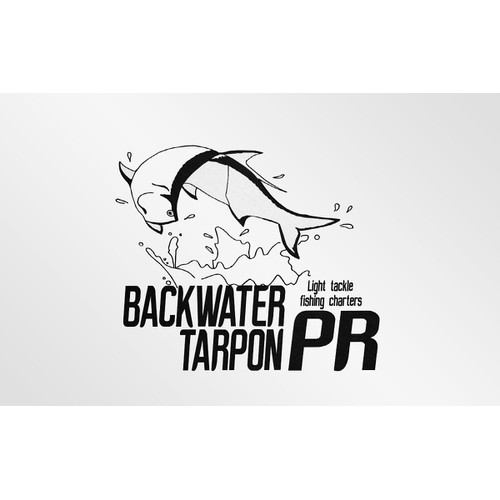 Create a logo for a Tarpon fishing business.