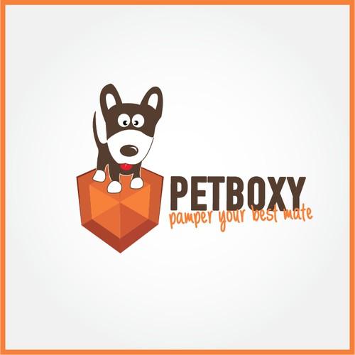 Online Pet Goodies Business PetBoxy Needs A Classy Logo Design.