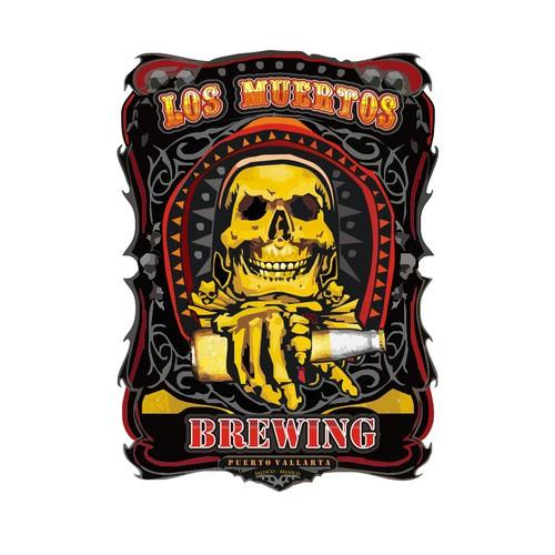 logo for Los Muertos Brewing