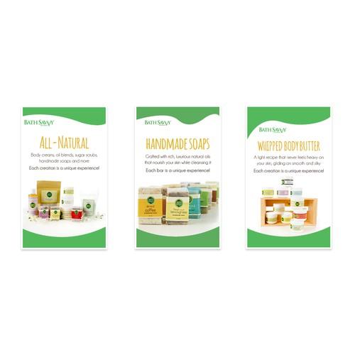 Winning Design for All-Natural Soaps Signage