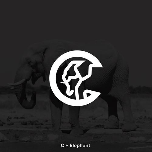 Lin-eart Elephant Logo