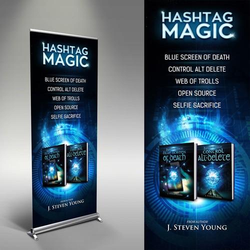 Hashtag Magic Stand banner