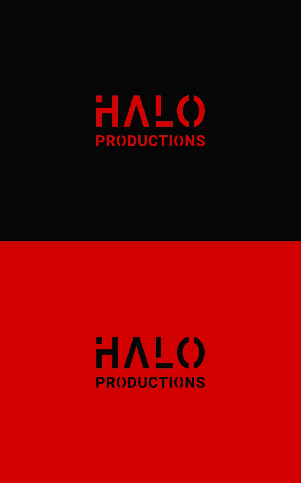 """Simple and Sharp logo, for """"Halo Productions"""" (use initials HP)"""