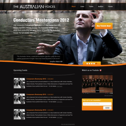 Design a new website for The Australian Voices