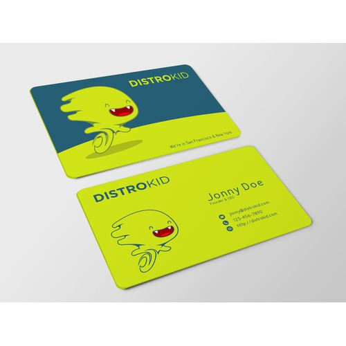 Business cards for online music service
